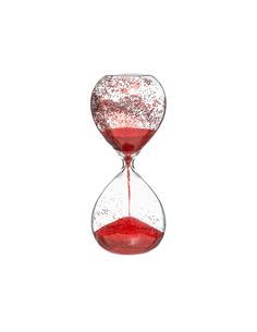 Κλεψύδρα 20εκ. Κόκκινο glitter